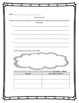 3rd Grade Build a Sentence Writing & Grammar Center Activity -  Life Cycles