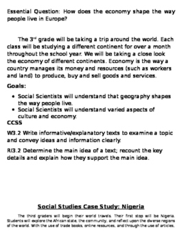 3rd Grade Bulletin Board Blurbs CCLS aligned