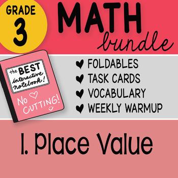 Doodle Notes - 3rd Grade Math Doodles Bundle 1. Place Value  - FREEBIE!