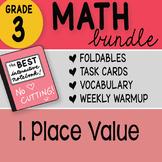 Math Doodle - 3rd Grade Math Doodles Bundle 1. Place Value  - FREEBIE!