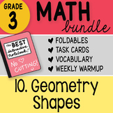 Doodle Notes - 3rd Grade Math Doodles Bundle 10. Geometry Shapes