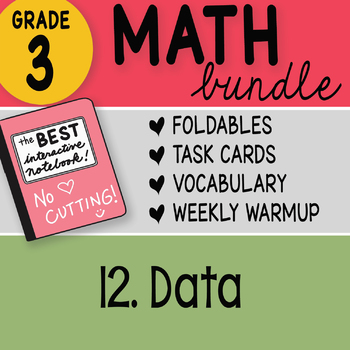 3rd Grade Bundle 12 Data by Math Doodles TEKS and CC Aligned