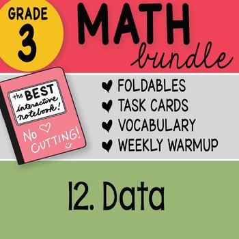 Doodle Notes - 3rd Grade Math Doodles Bundle 12. Data