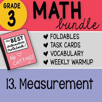 Doodle Notes - 3rd Grade Math Doodles Bundle 13. Measurement
