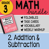 Doodle Notes - 3rd Grade Math Doodles Bundle 2. Addition & Subtraction