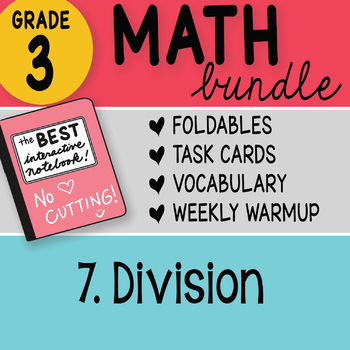 Doodle Notes - 3rd Grade Math Doodles Bundle 7. Division