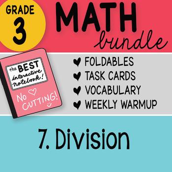 Doodle Notes - 3rd Grade Math Doodles Bundle 7. Division
