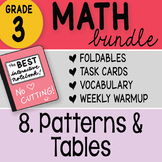 Doodle Notes - 3rd Grade Math Doodles Bundle 8. Patterns and Tables