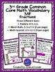 3rd Grade Bundle {CCSS MATH VOCABULARY POSTERS} {WORD WALL} {MATH JOURNALS}