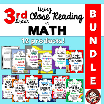 3rd Grade Bundle: Close Reading in Math