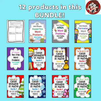 3rd Grade Bundle: Close Reading in Math