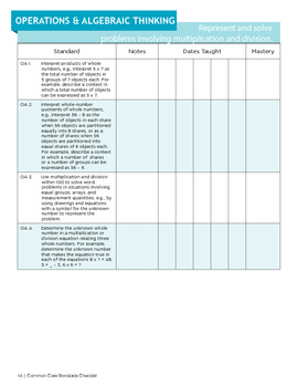 3rd Grade CA Common Core Curriculim Builder for ELA and Math Booklet