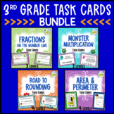 Fractions, Multiplication, Rounding, Area & Perim - TASK CARD BUNDLE