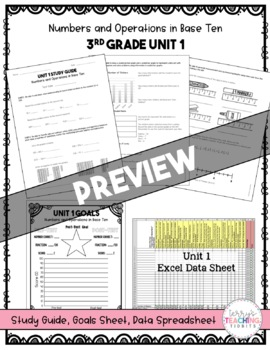 3rd Grade Unit 1 Math Test Pack {Paper and Pencil}