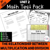 The Relationship B/t Multiplication & Division Test Pack *3rd Grade* {Unit 2}
