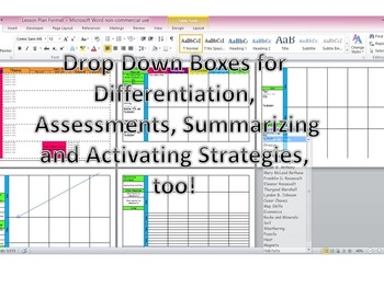 3rd Grade CCGPS Editable Lesson Plans with Dropdown Boxes