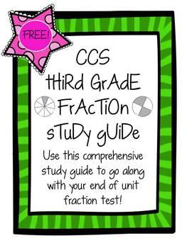 3rd Grade CCS Fraction Unit Study Guide