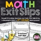 3rd Grade Math Exit Slips Bundle - All Common Core Standards