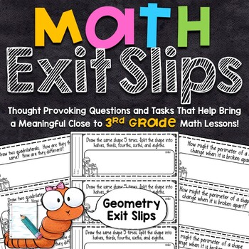 3rd Grade Math Exit Slips - Geometry
