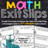 3rd Grade Math Exit Slips | Multiplication and Division