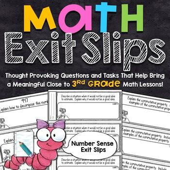 3rd Grade Math Exit Slips - Number Sense