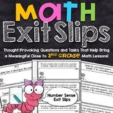 3rd Grade Math Exit Slips | Number Sense