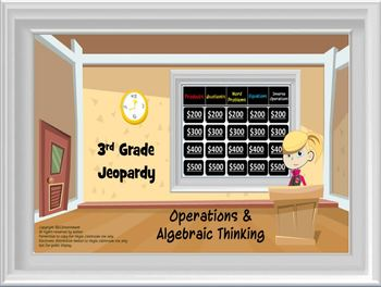3rd Grade CCS Math Jeopardy:Number and Operations in Base Ten/Algebraic Thinking