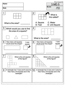 28 Math Assessments 3rd Grade CCSS Test Prep - All Standards