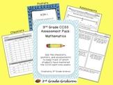 3rd Grade CCSS Assessment Pack:  Mathematics