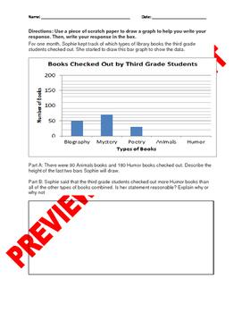 "3rd Grade CCSS ""Creating and Interpreting Graphs"" Assessment Bank Bundle"