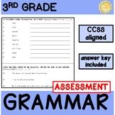 3rd Grade CCSS ELA Grammr Assessment