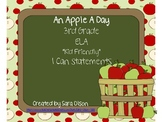 "3rd Grade CCSS ELA ""I can"" Statements (Apple Theme)"