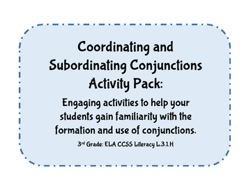 3rd Grade CCSS ELA Language & Grammar: Conjunctions Mini L