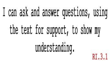 """3rd Grade CCSS ELA Reading: Informational Text Standards & """"I Can"""" Statements"""