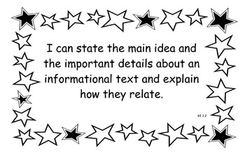 3rd Grade CCSS English language arts I can statement posters