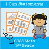 3rd Grade CCSS I Can Statements Math