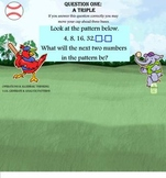 3rd Grade CCSS Math Baseball Game SMARTBOARD FUN + Written Response Worksheets