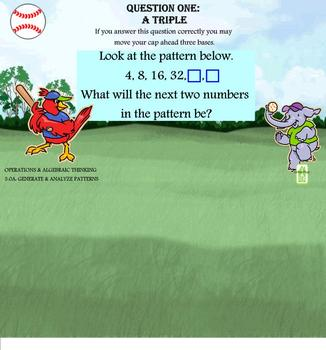 3rd Grade CCSS Math Baseball Game SMARTBOARD FUN + Written Response Worksheets