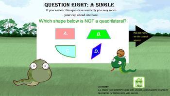 3rd Grade CCSS Math Baseball Game + Written Response Questions PROMETHEAN FUN