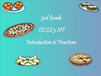 3rd Grade ~CCSS Math~ Fraction Introduction SMARTBOARD LESSON, QUESTIONS, MORE