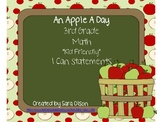 "3rd Grade CCSS Math Kid Friendly ""I Can"" Statements (Apple Theme)"