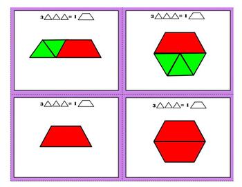 3rd Grade CCSS Math Pattern Block Area War - Measurement & Data Game