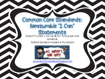 3rd Grade CCSS Math Standards in Objectives