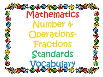 3rd Grade CCSS Math Vocabulary Cards Set 1