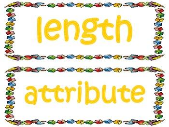 3rd Grade CCSS Math Vocabulary Cards Set 2