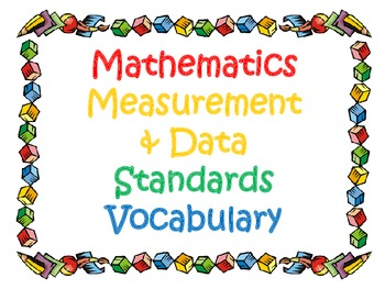 3rd Grade CCSS Math Vocabulary Cards Set 2