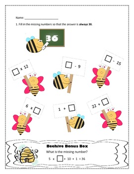 3rd Grade CCSS Math Worksheets ~ Addition, Subtraction, Multiplication Equations