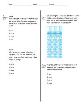 3rd Grade CCSS Measurement (Eureka Module 2 Assessment 4)