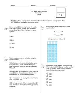 3rd Grade CCSS Measurement (Eureka Module 2 Assessment 1)