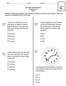 3rd Grade CCSS Measurement (Eureka Module 2 and 3)